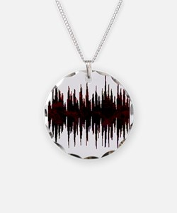 Synthesized Army Audio Wave Necklace