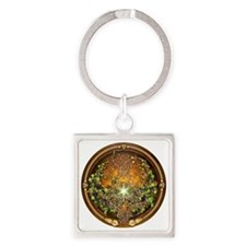Sacred Celtic Trees - Vine Square Keychain