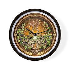 Sacred Celtic Trees - Vine Wall Clock