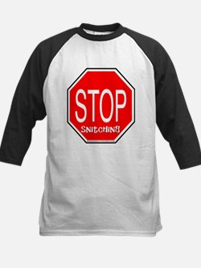 stop snitching Kids Baseball Jersey
