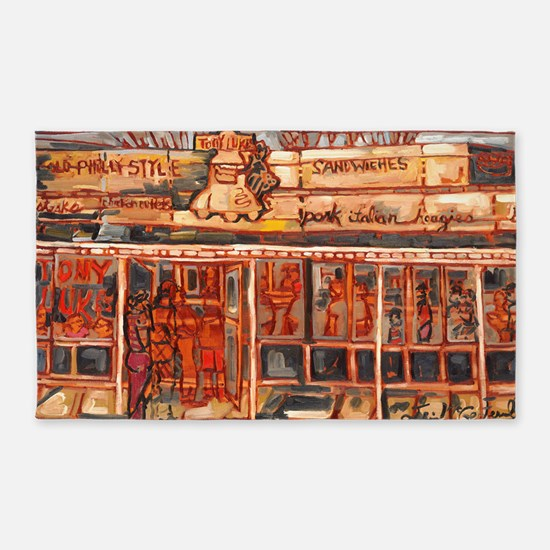 Philadelphia Tony Lukes CheeseSteak 3'x5' Area Rug