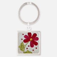 Give Yourself Flowers Today Square Keychain