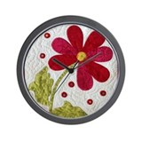 Flower quilt Wall Clocks