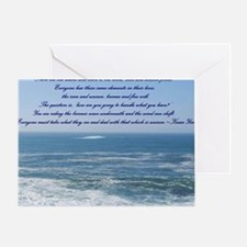 POWER OF THE MOMENT POEM Greeting Card