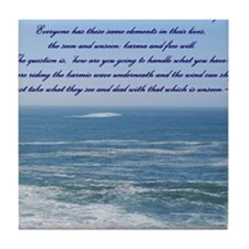 POWER OF THE MOMENT POEM Tile Coaster