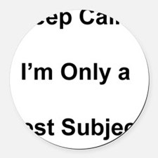 Test Subject Round Car Magnet