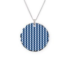 Carolina Blue Argyle Sock Pa Necklace