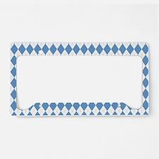 Carolina Blue Argyle Sock Pat License Plate Holder