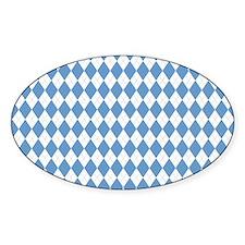 Carolina Blue Argyle Sock Pattern N Decal