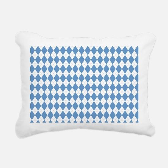 Carolina Blue Argyle Soc Rectangular Canvas Pillow