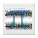 1000 digits of PI - Tile Coaster