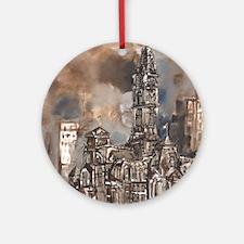 Philadelphia City Hall Round Ornament