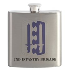 SSI - 2nd Infantry Brigade with Text Flask