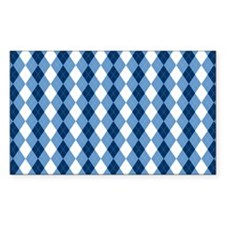 Carolina Blue Argyle Sock Patt Decal
