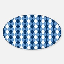 Carolina Blue Argyle Sock Pattern N Decal