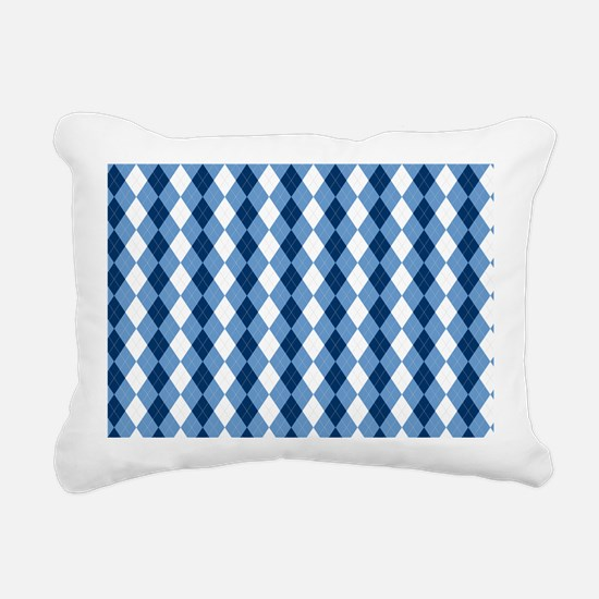 Carolina Blue Argyle Soc Rectangular Canvas Pillow