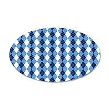 Carolina Blue Argyle Sock Pa Wall Sticker