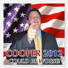 "Cooper 2012 Campaign Square Car Magnet 3"" x 3"""