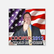 """Cooper 2012 Campaign Square Sticker 3"""" x 3"""""""