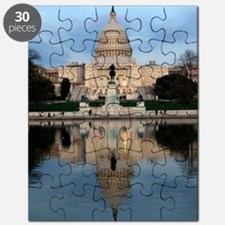 U.S. Capitol Building with Reflection Puzzle