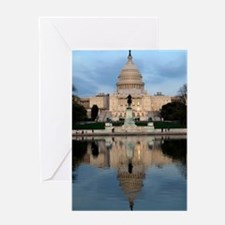U.S. Capitol Building with Reflectio Greeting Card
