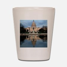 U.S. Capitol Building with Reflection Shot Glass