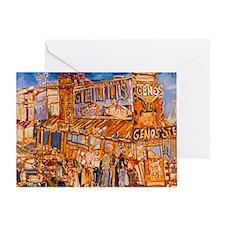 Philadelphia Genos CheeseSteak on 9t Greeting Card