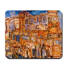 Philadelphia Genos CheeseSteak on 9th Mousepad