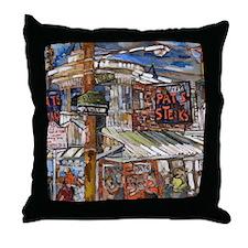 Philadelphia Pats CheeseSteak Throw Pillow
