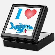 I Love Whale Sharks Keepsake Box