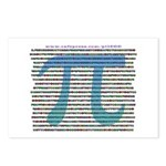 1000 digits of PI - Postcards (Package of 8)