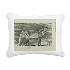 Fox lithograph Rectangular Canvas Pillow