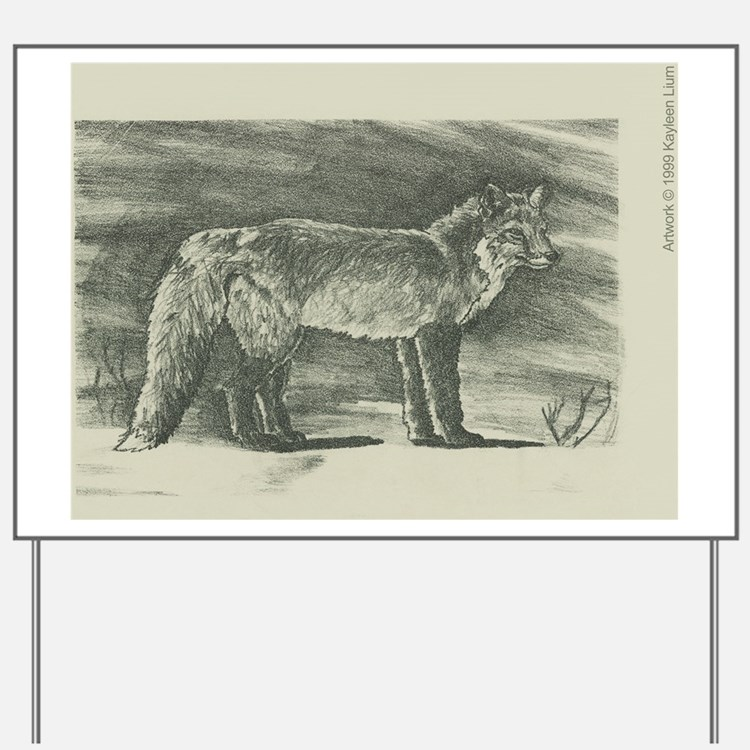 Fox lithograph Yard Sign