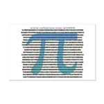 1000 digits of PI - Mini Poster Print