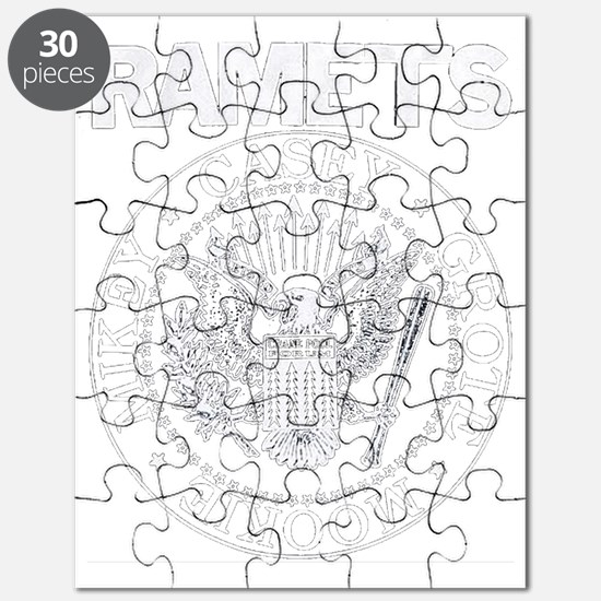 RAMETS Front White on Blank Puzzle