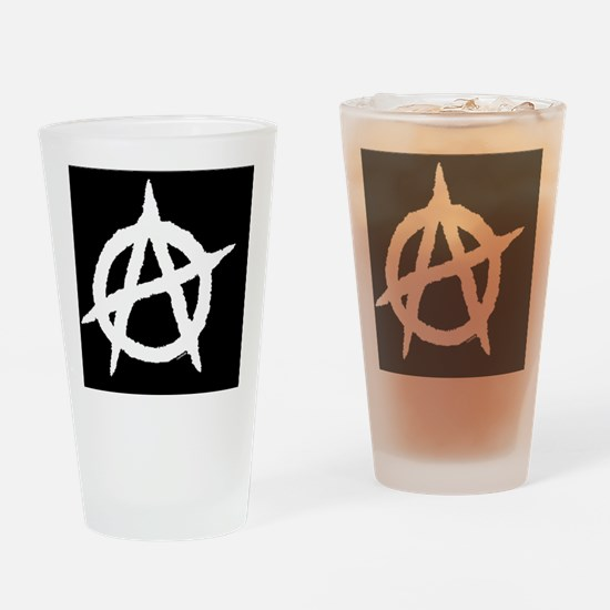 AnaOvalStickerBlackOnWhite-a Drinking Glass