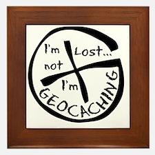 Im Not Lost...Im Geocaching Framed Tile