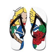 Sailor Girl Flip Flops