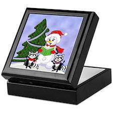 Christmas Racoons Keepsake Box