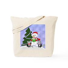 Christmas Racoons Tote Bag