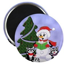 Christmas Racoons Magnet