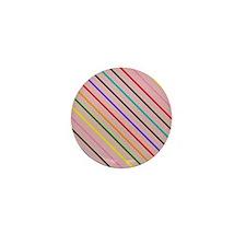Pink-o in a square Mini Button