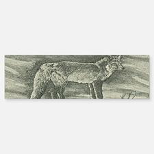 Fox Lithograph Sticker (Bumper)