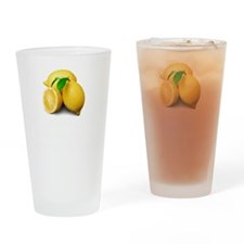 Lemonade Suck Drinking Glass