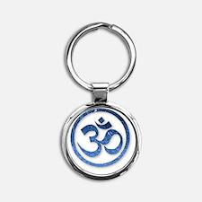 Om Symbol Round Keychain