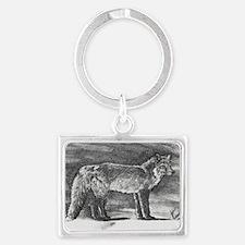 Fox lithograph Landscape Keychain