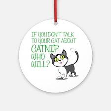catnip Round Ornament