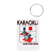 Karaoke!  Make Your Move! Aluminum Photo Keychain