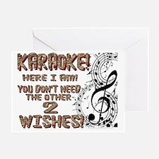 Karaoke Golden Wish Greeting Card