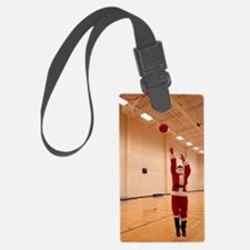 Basketball Santa Luggage Tag
